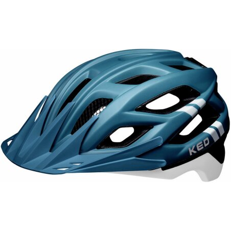 KED Companion Helm blue white matt