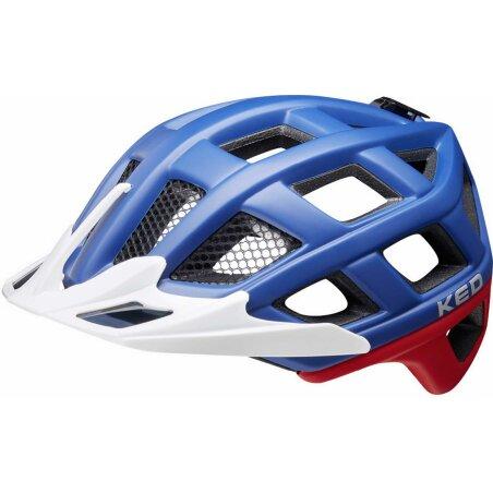 KED Crom Helm blue red matt