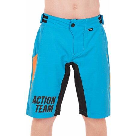 Cube JUNIOR Baggy Shorts X Actionteam blau