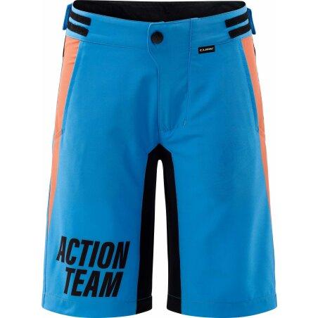 Cube JUNIOR Baggy Shorts inkl. Innenhose X Actionteam blau