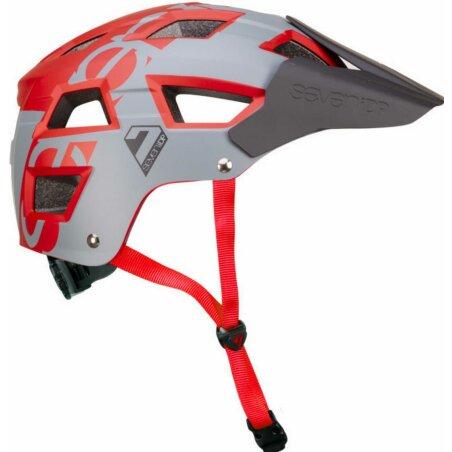 7iDP Helm M5 grau-rot