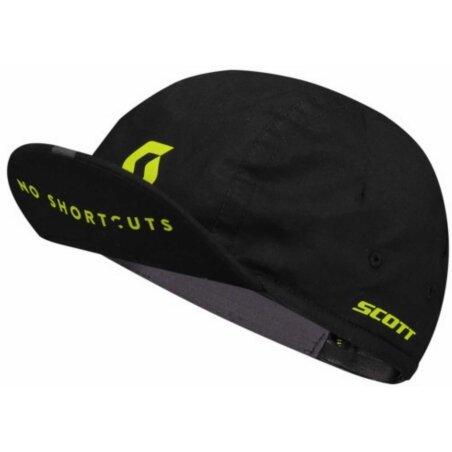 Scott Cycling No Shortcuts Cap black/sulphur yellow