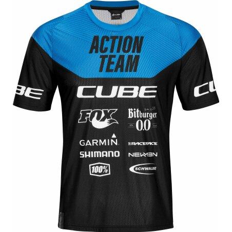 CUBE Edge Rundhalstrikot kurzarm X Actionteam...