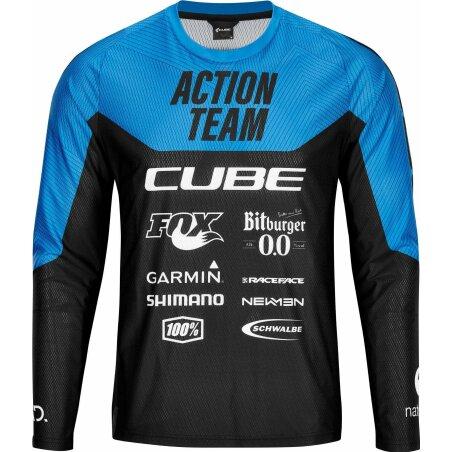 CUBE Edge Rundhalstrikot langarm X Actionteam...
