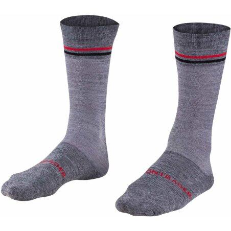 Bontrager Race Crew Thermal Wool Socke dark grey/red