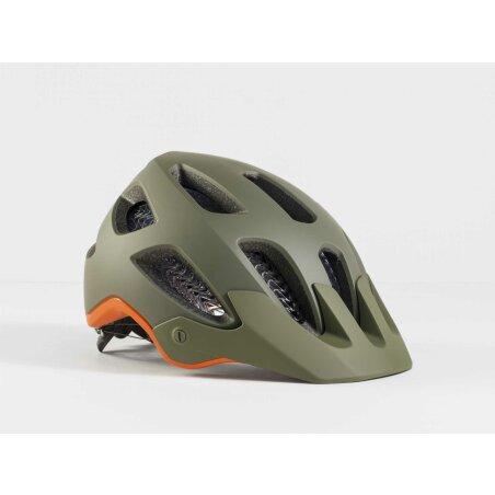 Bontrager Rally Wavecel MTB-Helm olive grey/roarange