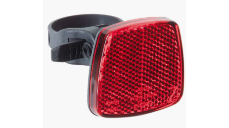 Busch & Müller Heckreflektor rot mit Kunststoffschraubschelle