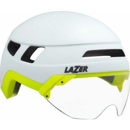 Lazer Urbanize NTA MIPS Helm + LED matte white flash yellow