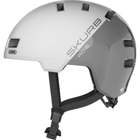 Abus Skurb ACE Helm silver white