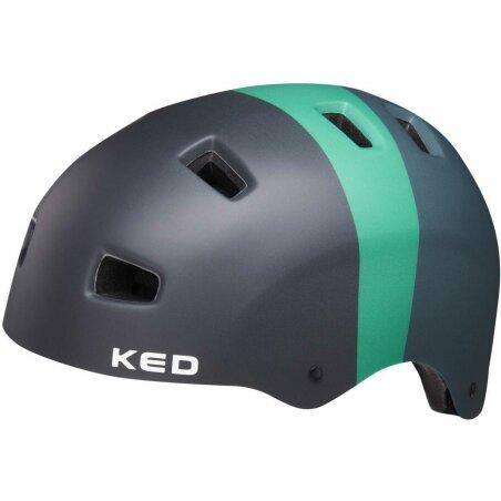 KED 5Forty Kinder-Helm black green matt