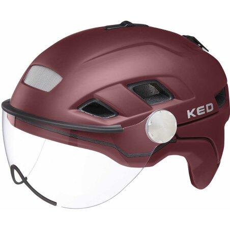 KED B-Vis X-Lite Helm dark merlot matt