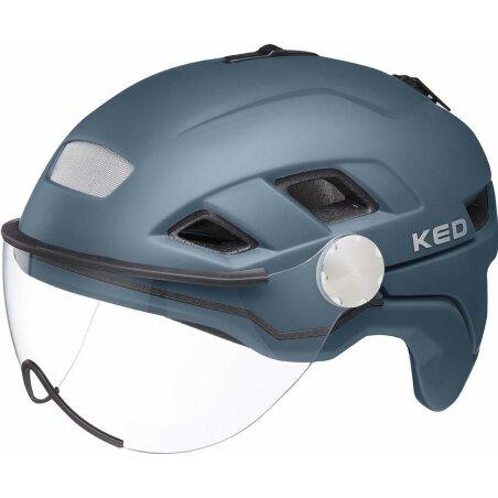 KED B-Vis X-Lite Helm deep blue matt