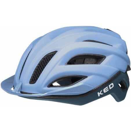 KED Champion Visor Rennrad-Helm blue matt
