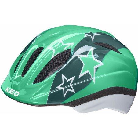 KED Meggy II Kinder-Helm green stars