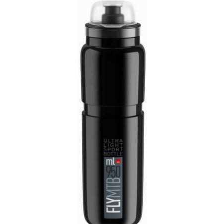 Elite Fly MTB Trinkflasche schwarz/grau