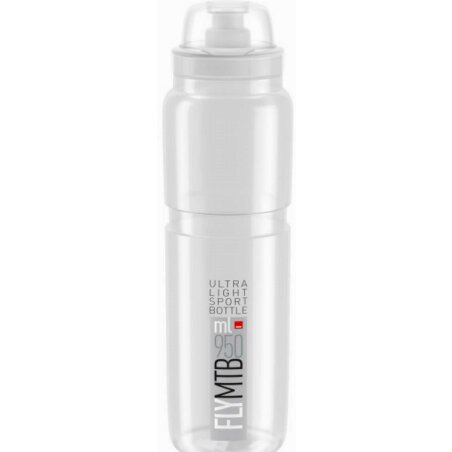 Elite Fly MTB Trinkflasche transparent/grau