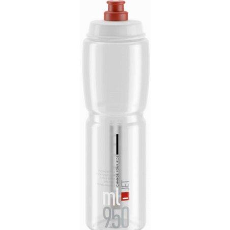 Elite Jet Trinkflasche transparent/rot