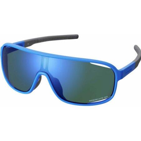 Shimano Technium Brille blue/ridescape gravel