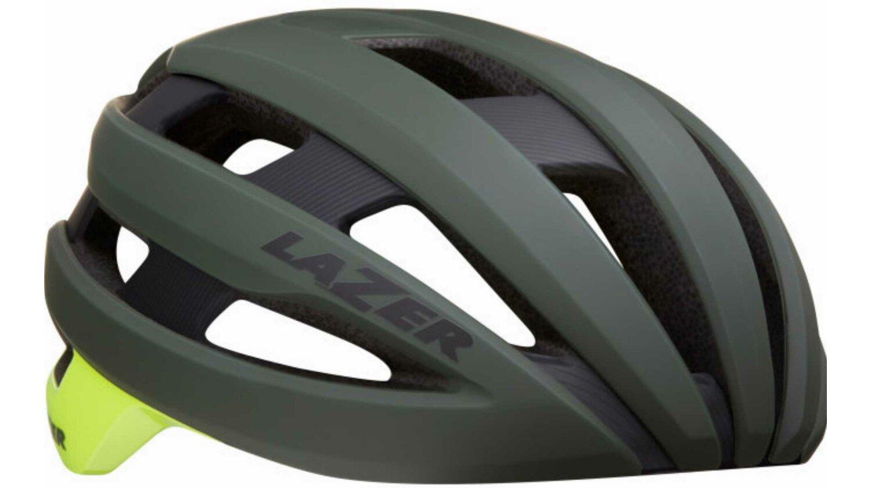 Lazer Sphere Rennrad-Helm matte dark green flash yellow