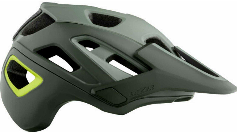 Lazer Jackal MIPS Helm matte dark green flash yellow