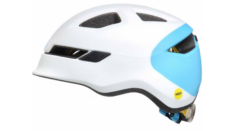 KED POP Kinder-Helm white blue