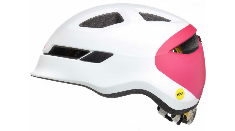 KED POP Kinder-Helm white magenta