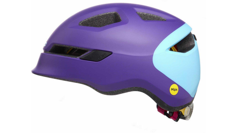 KED POP Kinder-Helm purple skyblue