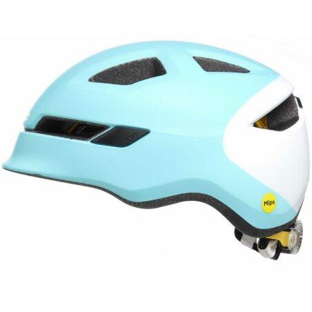 KED POP Kinder-Helm iceblue white