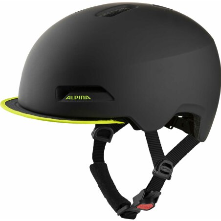 Alpina Brooklyn Helm black-neon-yellow matt