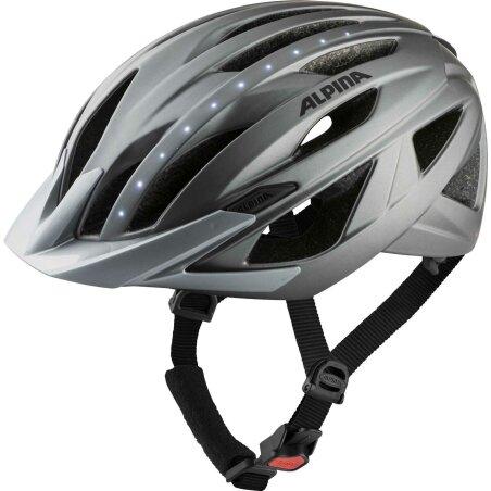 Alpina Haga LED Helm darksilver matt