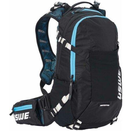 USWE Protektor-Rucksack Flow schwarz/malmoe blau 16 L