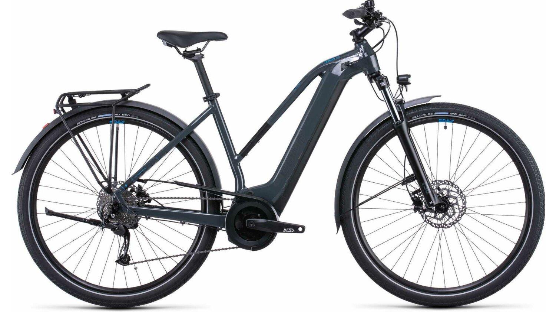 "Cube Touring Hybrid ONE 500 Wh E-Bike Trapeze 28"" grey´n´blue"