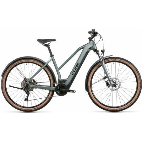 "Cube Nuride Hybrid Pro Allroad 625 Wh E-Bike Trapeze 28"" silvergreen´n´black"