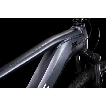 Cube Reaction Hybrid Performance 625 Wh E-Bike Hardtail Trapeze metallicgrey´n´white