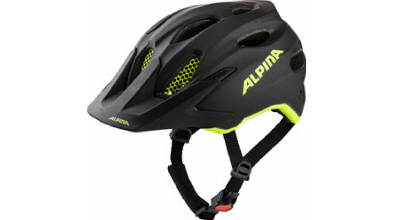Alpina Carapax Junior Flash Kinder-Helm black-neon-yellow matt 51-56 cm