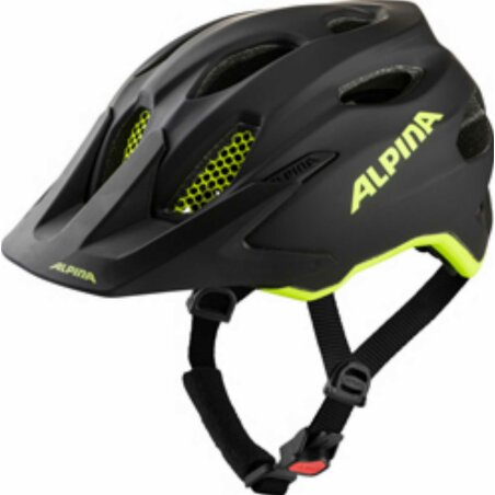 Alpina Carapax Junior Flash Kinder-Helm black-neon-yellow...