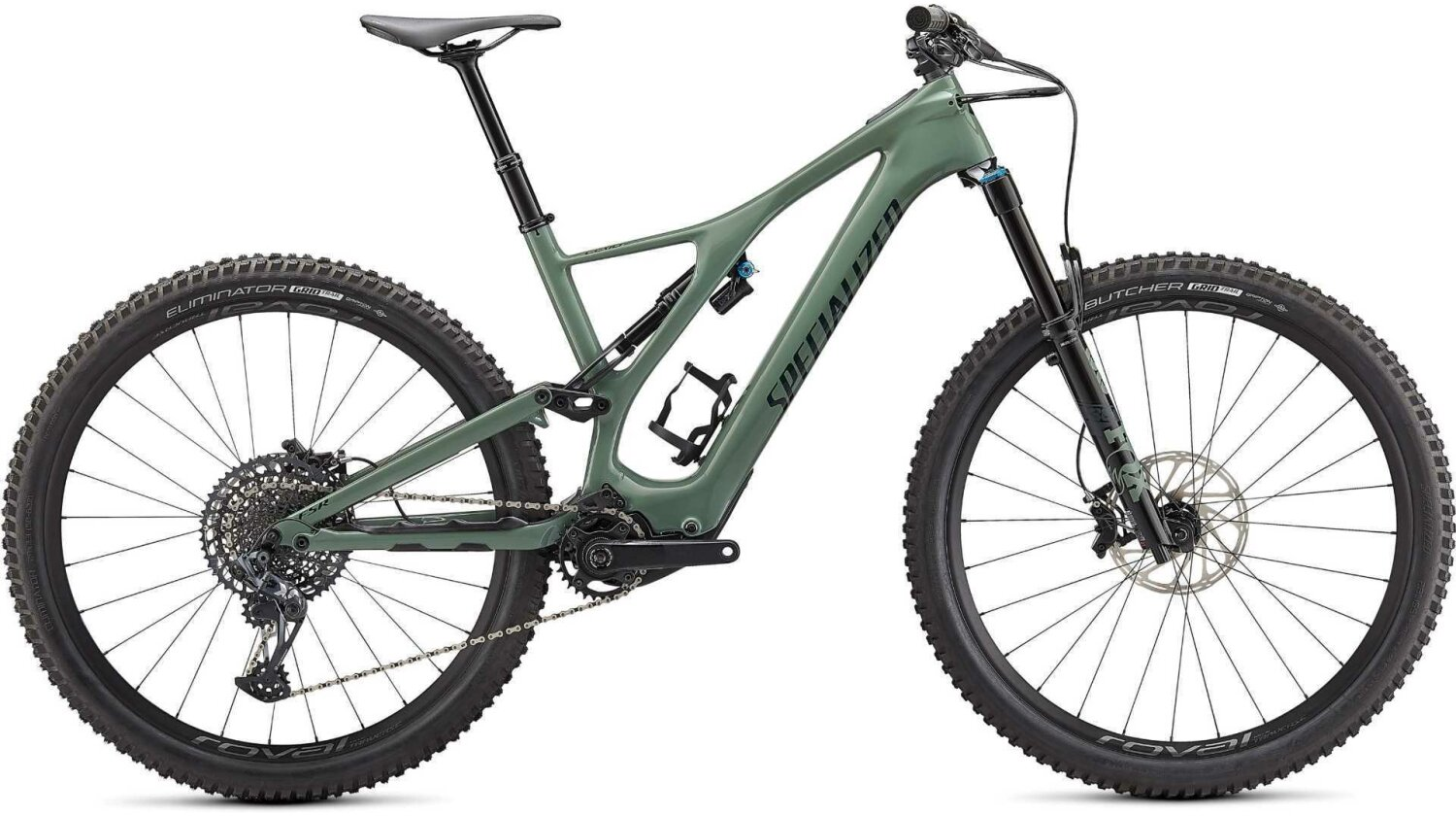 """Specialized Turbo Levo SL Expert Carbon 320 Wh E-Bike Fully 29"""" gloss sage/forest green"""