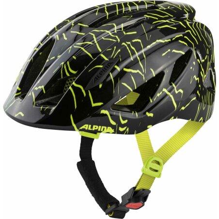 Alpina Pico Kinder-Helm black-neon yellow gloss 50-55 cm