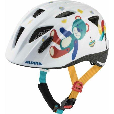 Alpina Ximo Kinder-Helm white bear gloss