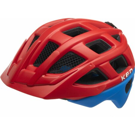KED Kailu Kinder-Helm fiery red blue matt