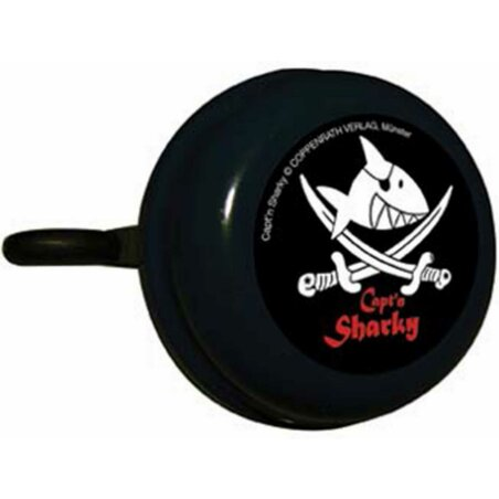 Capt`n Sharky Kinderklingel schwarz