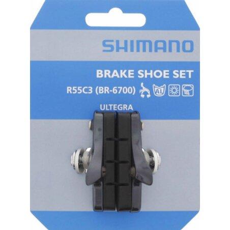 Shimano Ultegra BR-6700 R55C3 Road Bremsschuhe silber