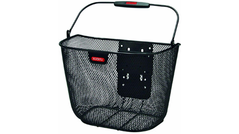 KLICKfix Uni Korb Plus Vorderradkorb engmaschig schwarz