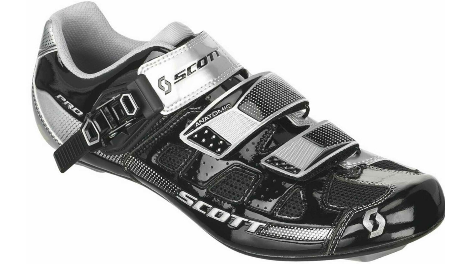 Scott Road Pro Schuh black/silver gloss 43