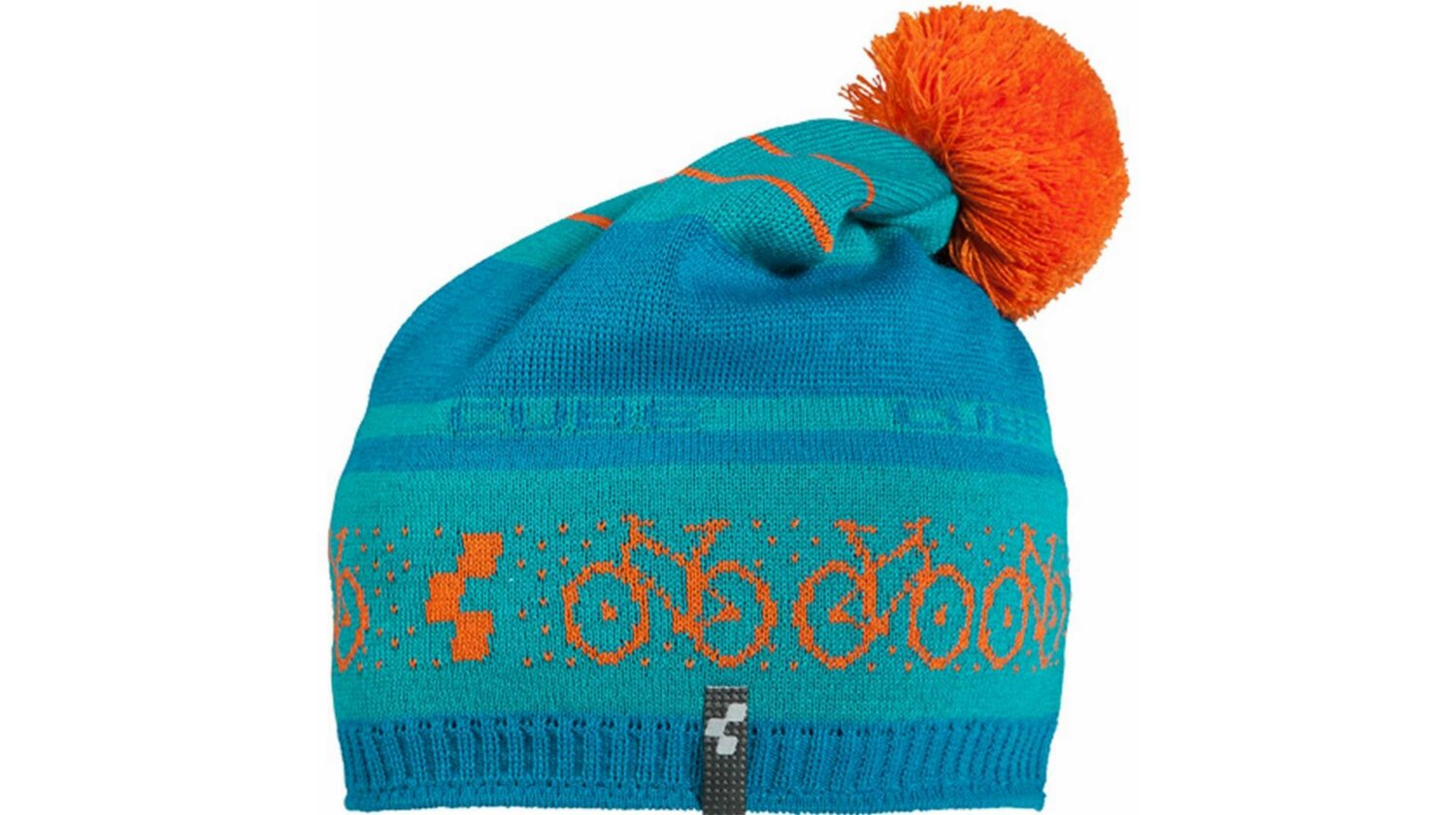 Cube Bommel Mütze Norweger blue´n´orange