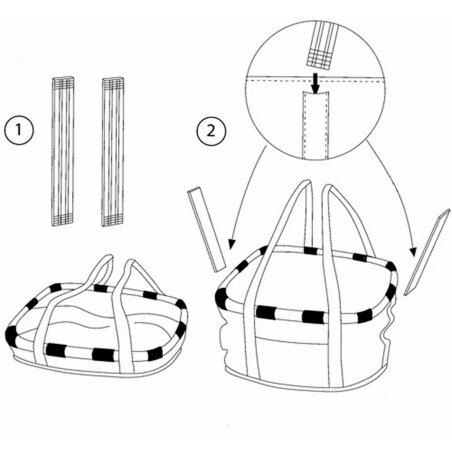 KLICKfix Reisenthel Bikebasket Lenkertasche mit Aluminumrahmen Crystals/light-grau