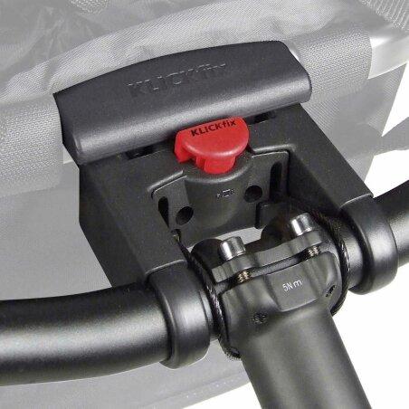 KLICKfix Reisenthel Bikebasket Lenkertasche mit Aluminumrahmen Folklore-schwarz