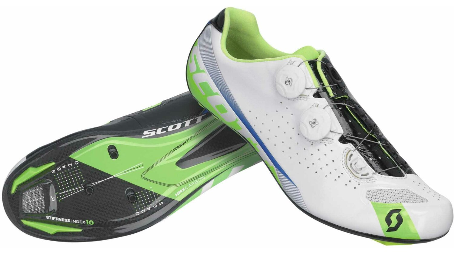 Scott Road Premium Rennradschuh white/green gloss