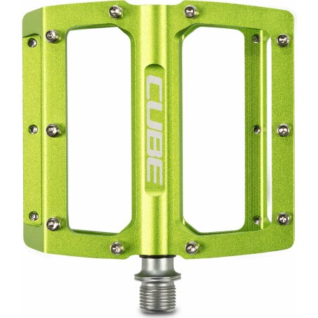 Cube All Mountain Pedal Flat green
