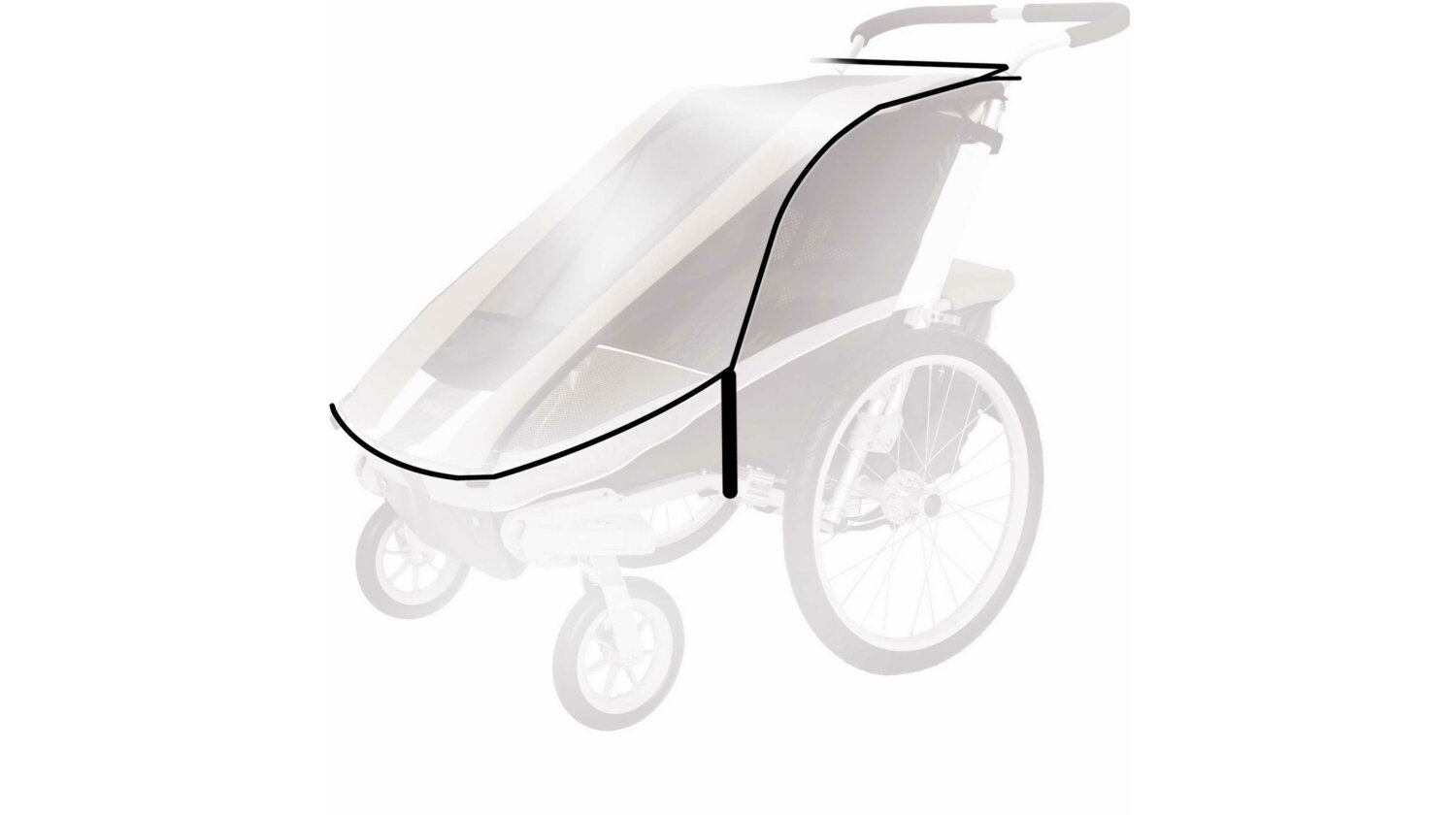 Thule Chariot Regenverdeck f�r Chinook 2